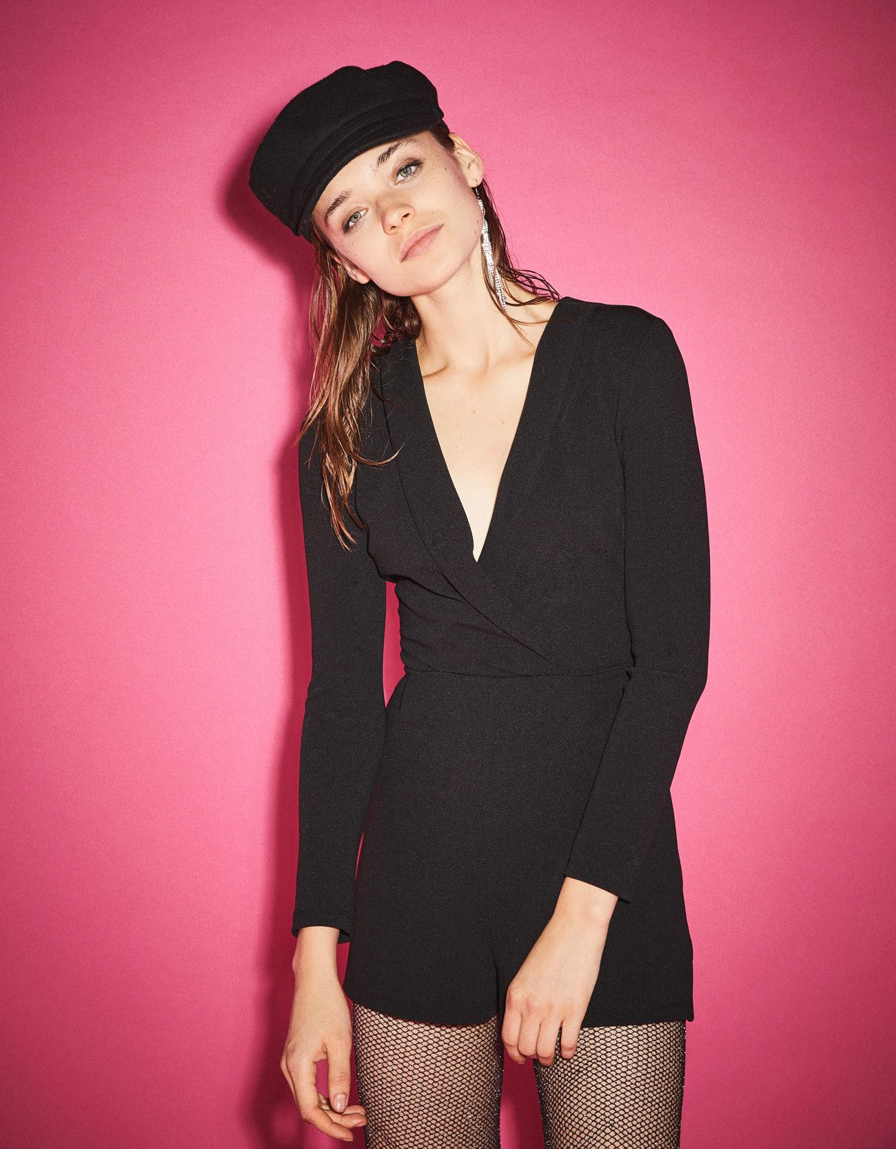 fa297ec774 Romper with tuxedo collar. Discover this and many more items in Bershka  with new products