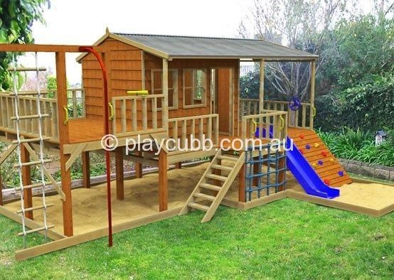 Diy cubby houses monster pak playground cubby house for Design a shed cubbies