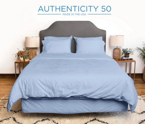 This Light Blue Bed Sheet Will Give You Sweet Dreams Year Round. Posted Via  BuyDirectUSA.com #madeinusa #bedding #luxury #madeinamerica #shopping