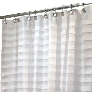 Amazon Com Interdesign Tuxedo Stall Size Shower Curtain White