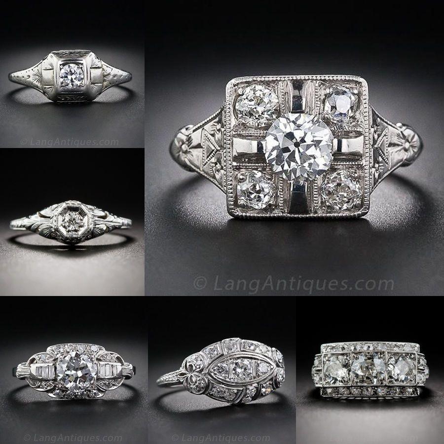 silver ring white topaz women men vintage wedding engagement