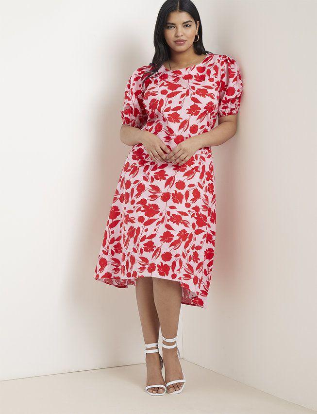 Floral Midi Skirt   Women's Plus Size Skirts   ELOQUII 2