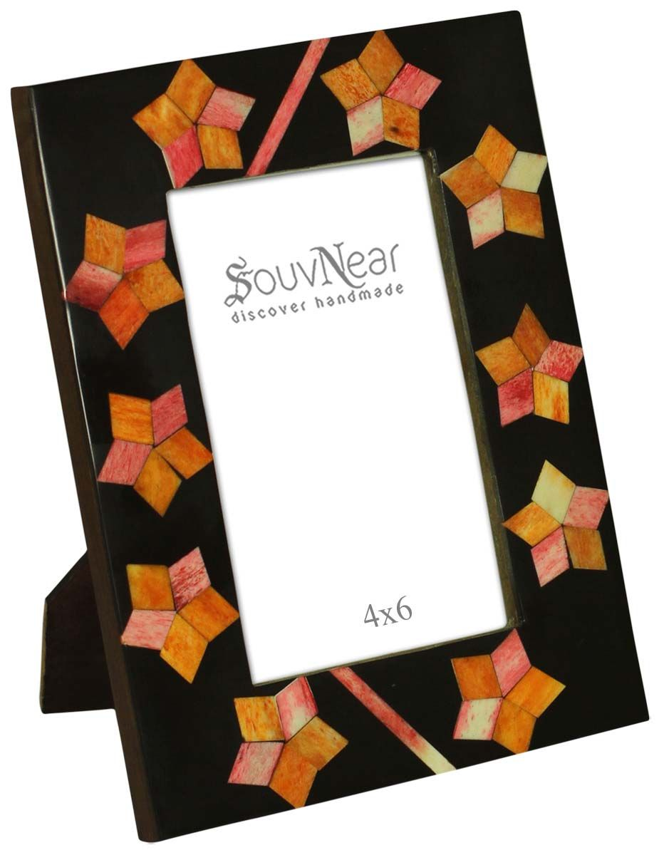 Source 4x6 Inches Black Orange Picture Frame In Bulk Wholesale Handmade Photo Frame With St Handmade Photo Frames Orange Picture Frames Home Decor Pictures
