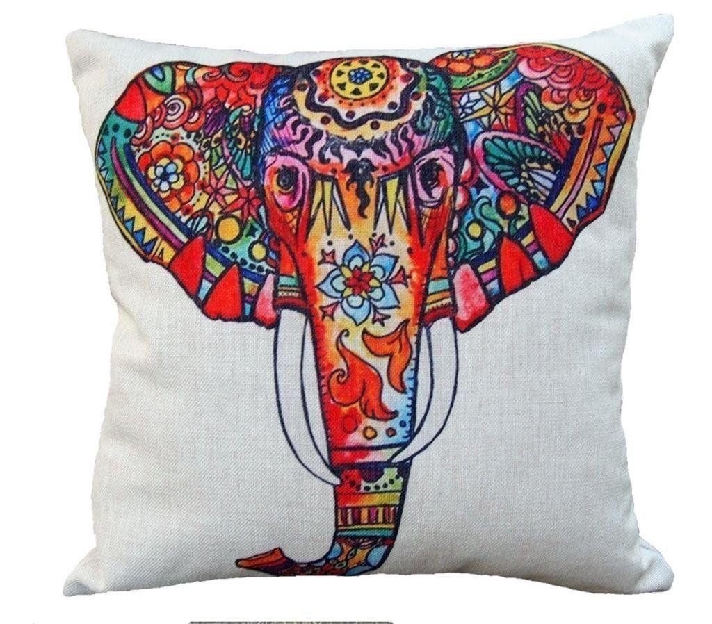 Bohemian Elephant Multi Color Decorative Pillow Case Cushion Cover ...