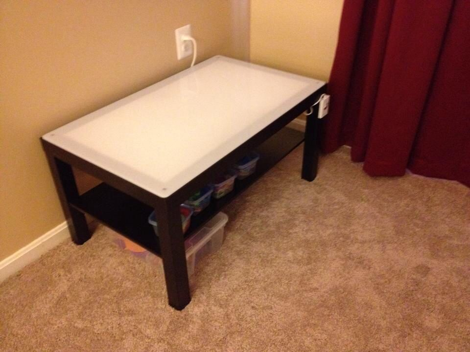 Ikea hack diy light table with a lack table the how to for Diy ikea desk