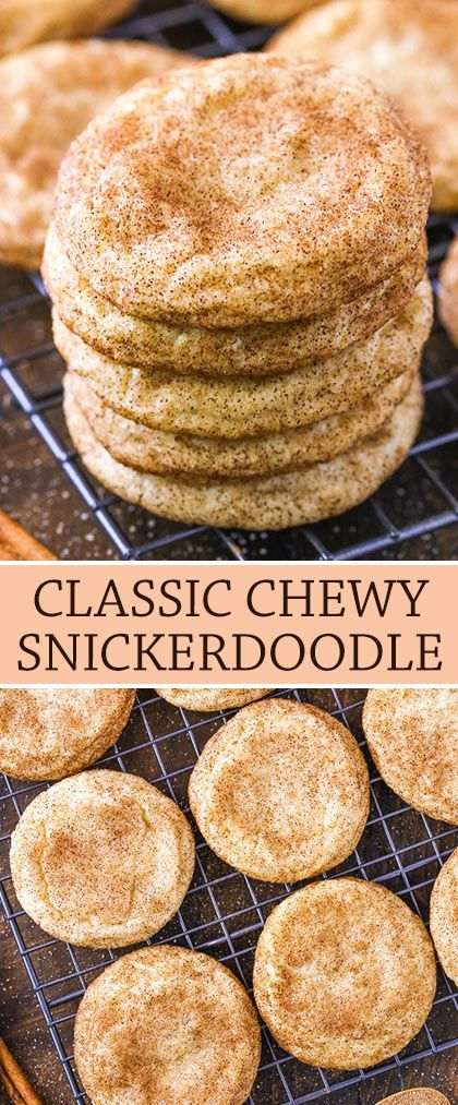 Photo of Chewy Snickerdoodle Cookies – The Best Snickerdoodles Recipe!