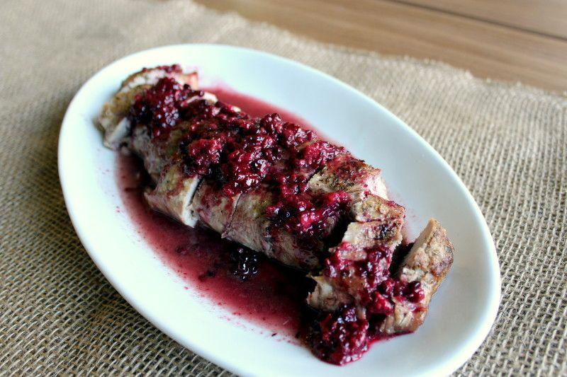Roasted Pork Loin with Blackberry Merlot Sauce 6