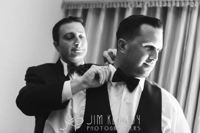 Don't forget to capture photos of the men getting ready too. Lots of good photo ideas from this gorgeously snapped wedding. Jim Kennedy Photographers - Jessica & Alex's Wedding at the Center Club Orange County.