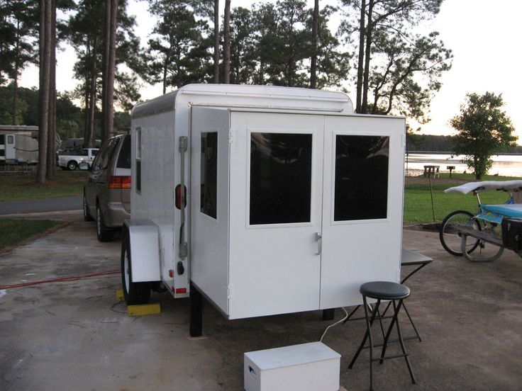 how to build a screen door for an enclosed trailer