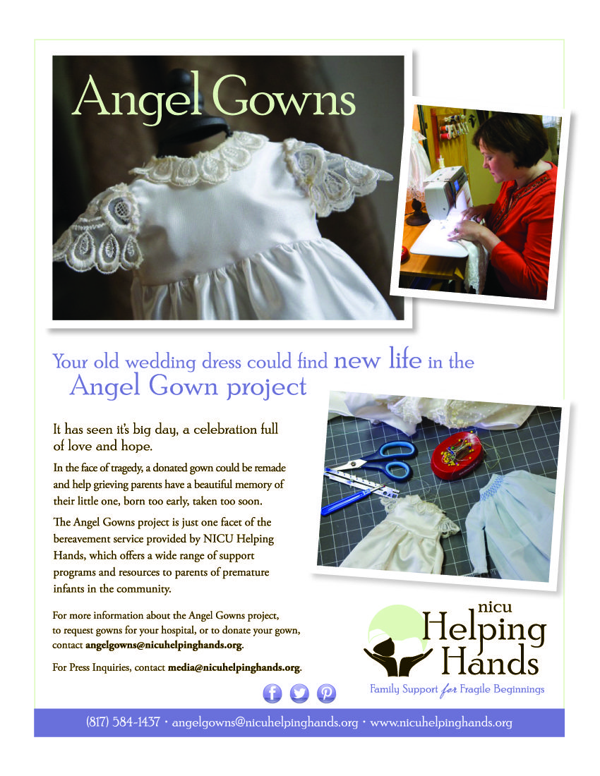 Amazing Helping Hands Angel Gowns Mold - Wedding and flowers ...