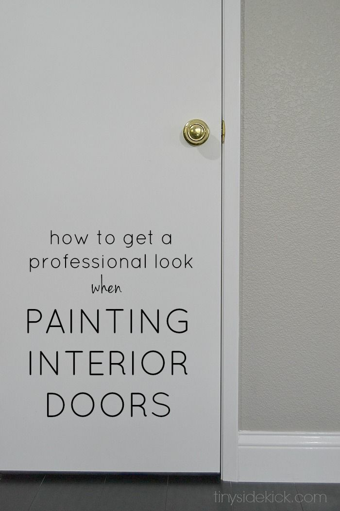 Great How To Get A Professional Look When Painting Interior Doors