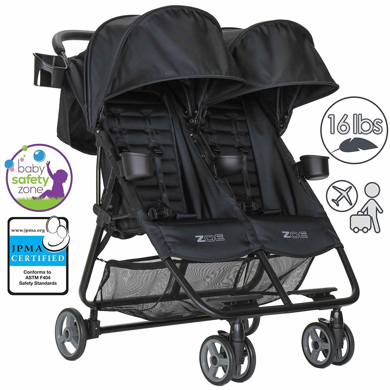 Zoe Xl2 Double Lightweight Twin Travel Umbrella Stroller