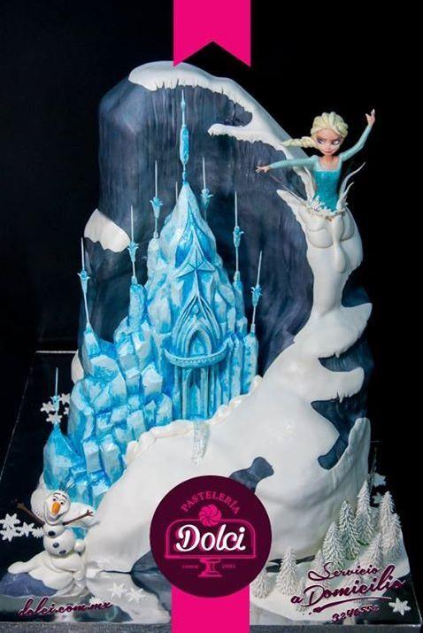 Disney Frozen Elsa castle cake
