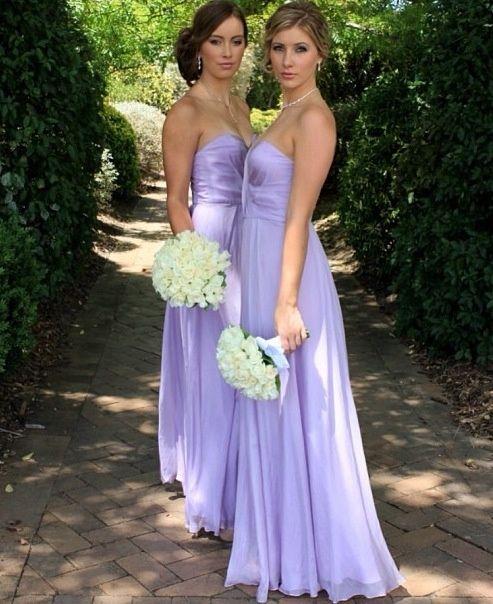 Peach And Lavender Bridesmaid Dresses Wedding