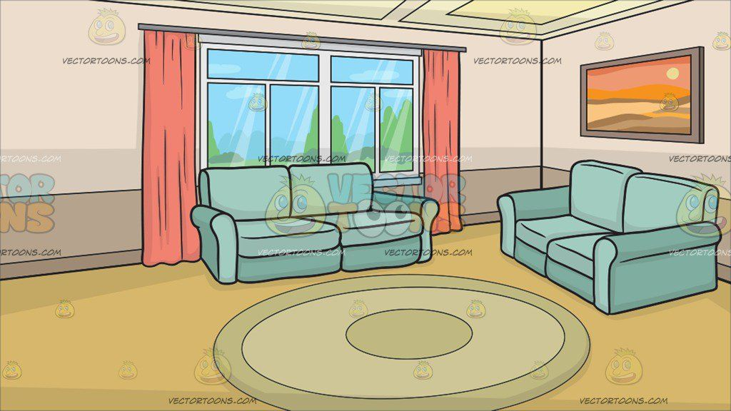 A Small Living Room Background Clipart By Vector Living Room