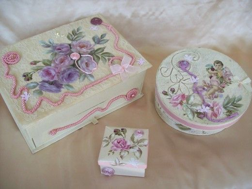 Decoupage Craft With Paper Decoupage Craft And Cigar Boxes