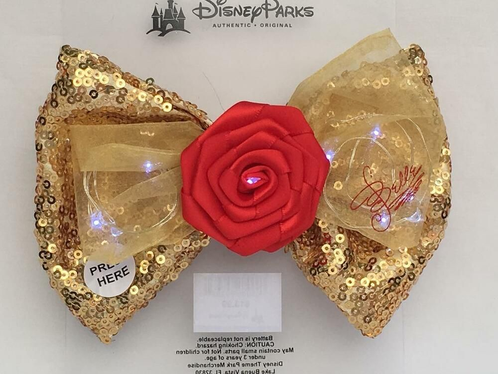 Disney Beauty And The Beast Belle/'s Rose Embroidered Applique Iron On Patch