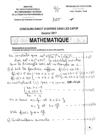 Sujets Corriges Instituteurs Adjoints Recherche Google Sheet Music Math Math Equations