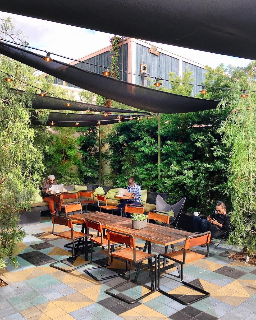 Verve Coffee West Hollywood Los Angeles California Restaurant Patio Outdoor Restaurant Patio Terrace Restaurant