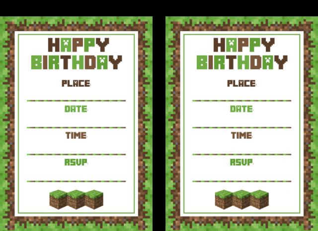 graphic regarding Printable Minecraft Invitations identify Free of charge Printable Minecraft Birthday Invites minecraft