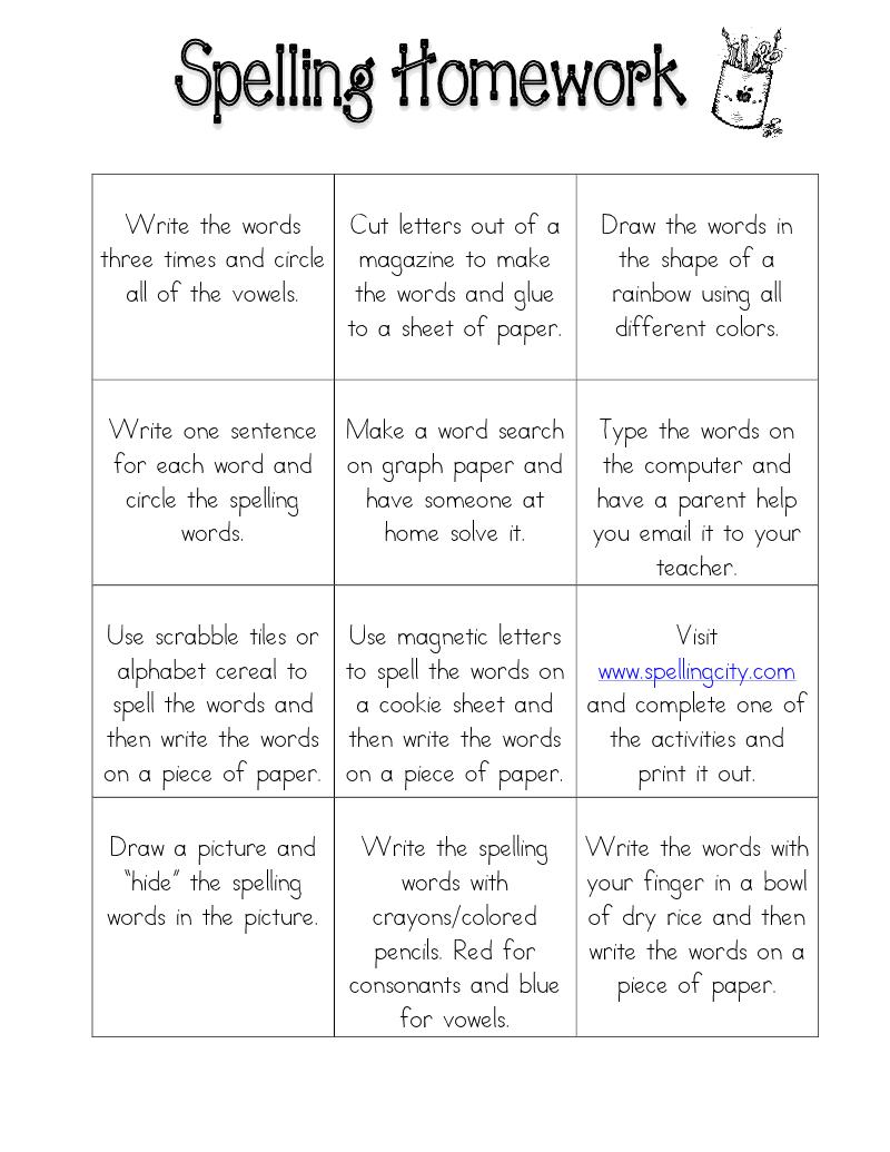Spelling Homework Spelling Homework Teaching Spelling Spelling Activities [ 1035 x 800 Pixel ]