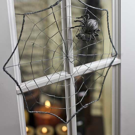 black spider web halloween decoration holiday decor. Black Bedroom Furniture Sets. Home Design Ideas