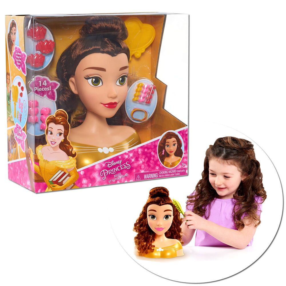 Disney Princess Belle Hair Styling Head Doll Set Hairstyle Toys Gifts Kids Girls Disney Princess Belle Princess Belle Hair Princess Belle