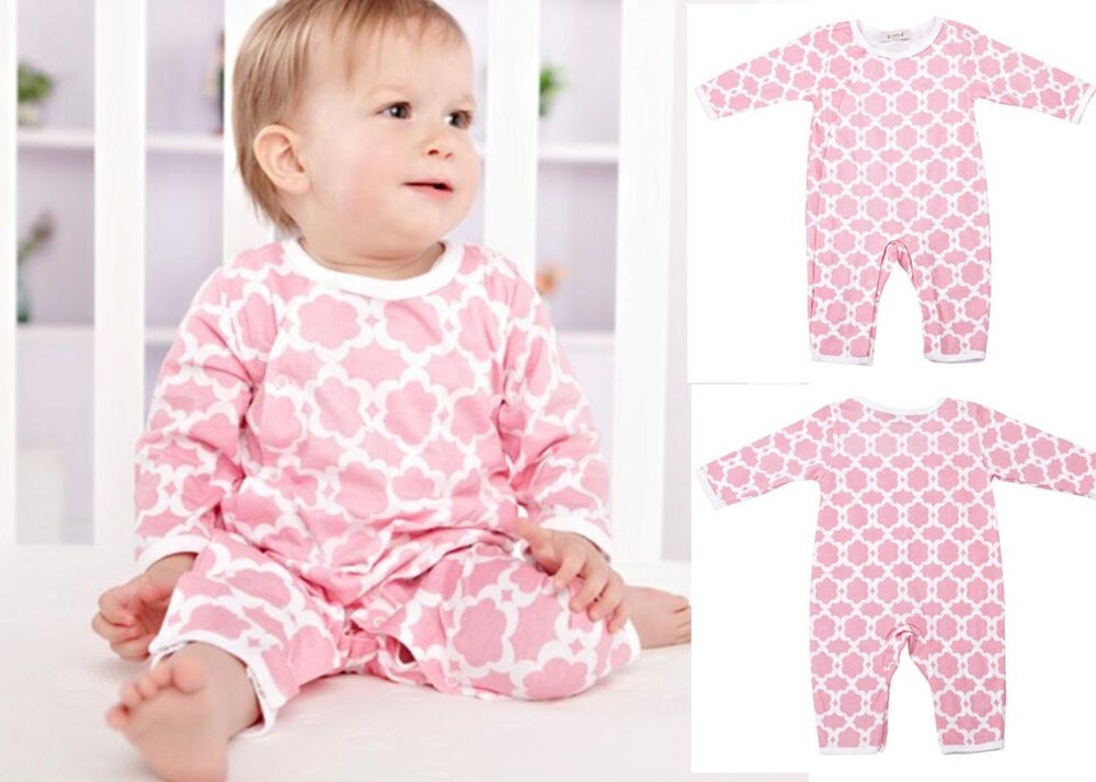 Newborn Baby Toddler Girl Flower Cotton Long Sleeve Bodysuits Clothing 0-3M #ibaby #Everyday