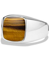 f6711d6ac7713 David Yurman | Exotic Stone Ring With Tiger's Eye In Silver, 12mm ...