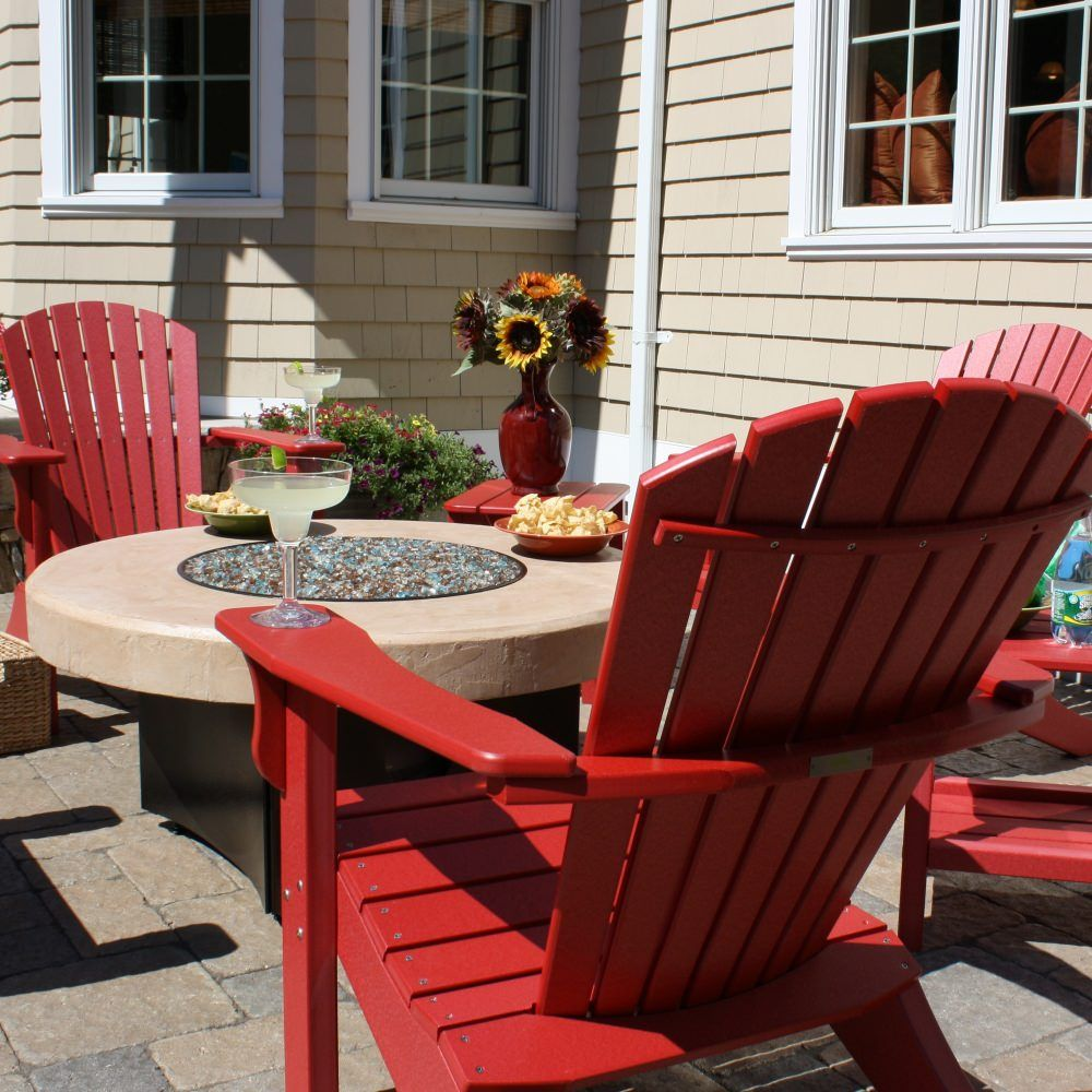 Hyannis Adirondack Chair Sand Outdoor wood fireplace
