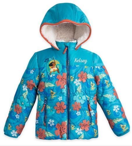 621fa808c Disney Princess Moana Fall Winter Hooded Jacket - Girls Size 4 ...
