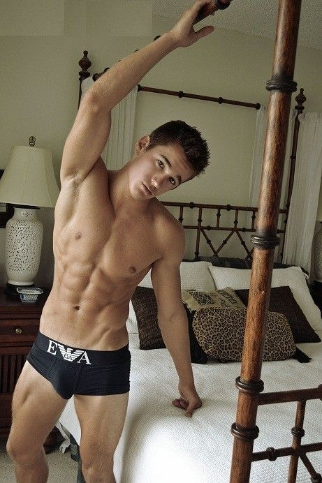 Hot hot boy grinds his bed