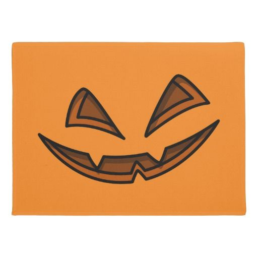 Happy Halloween Jack-O-Lantern Face Doormat