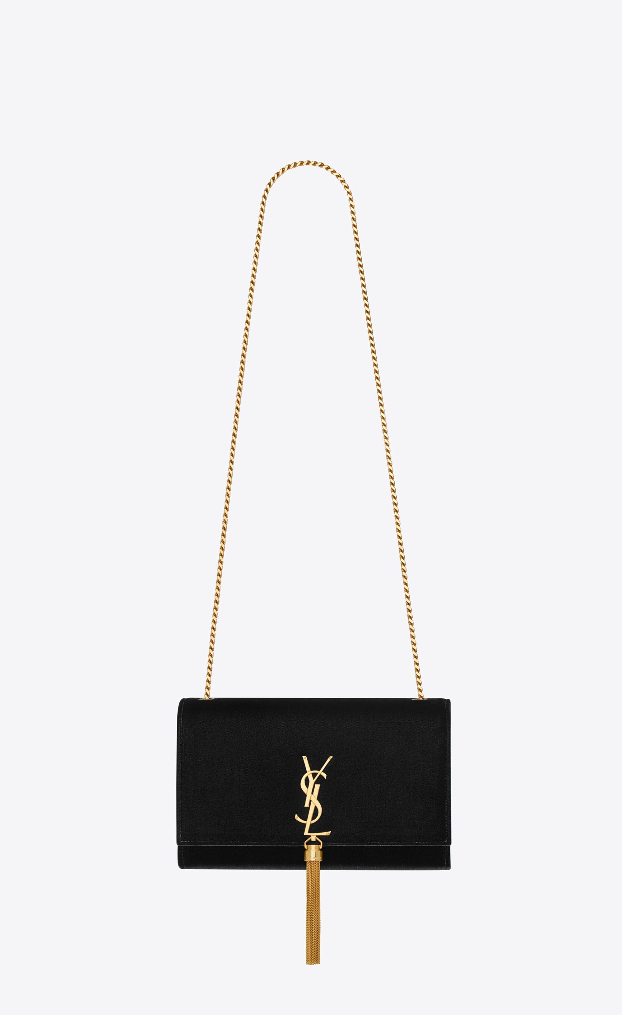 de19d01ad9d66 Saint Laurent - Medium Kate tassel chain bag in black velvet