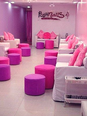 poshnails | kids nail salon | Nail salon decor, Nail salon design ...