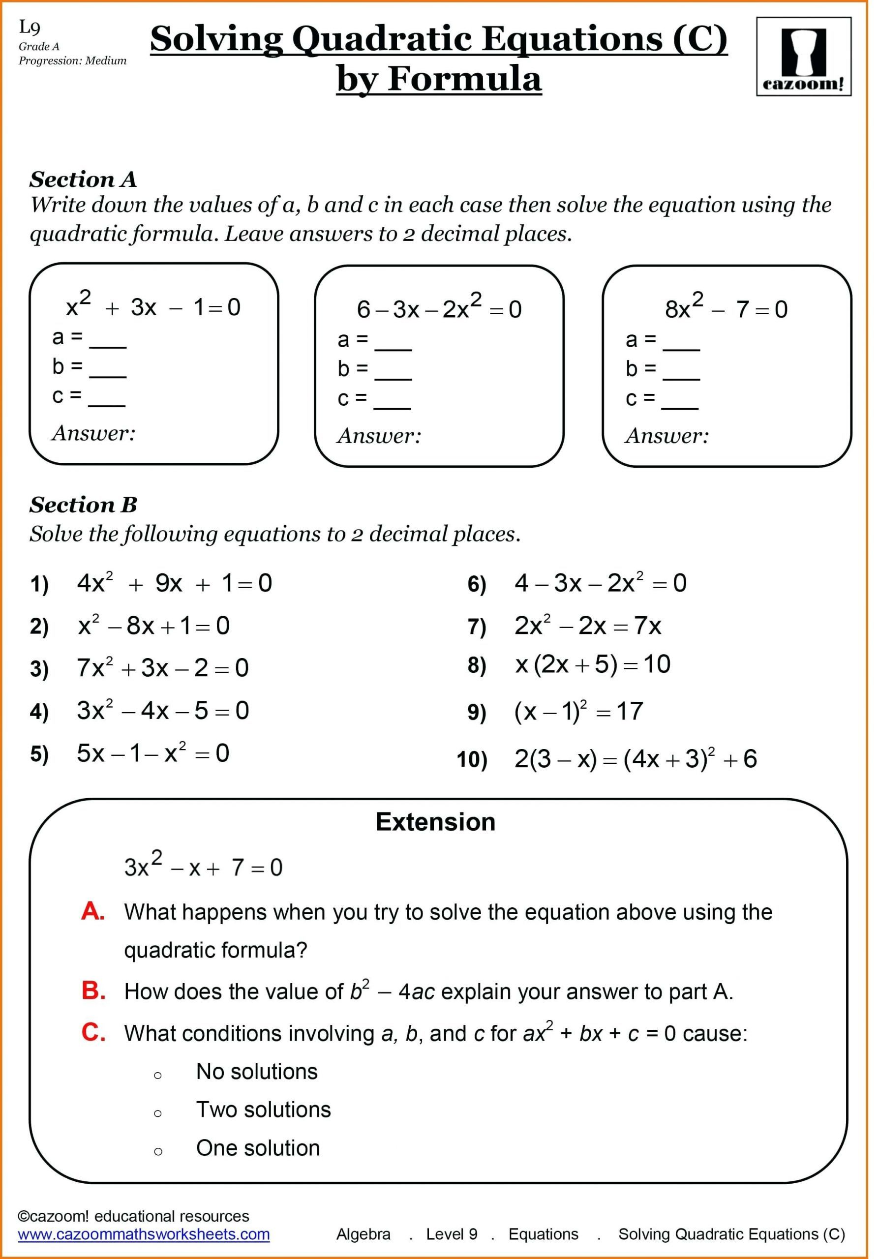 10 Inspirational 7th Grade Math Worksheets Algebra