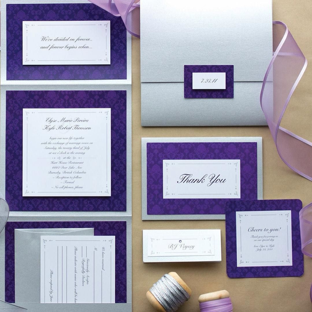 great vancouver wedding A custom designed wedding suite with silver pearl paper and purple accents for the lovely @elyse.thomson  ------------------------------------------------- #vancouvergraphicdesigner #yvr #vancouver #graphicdesign #wedding #weddinginvitation #custom #purple #silver by @stationerybike  #vancouverwedding #vancouverwedding