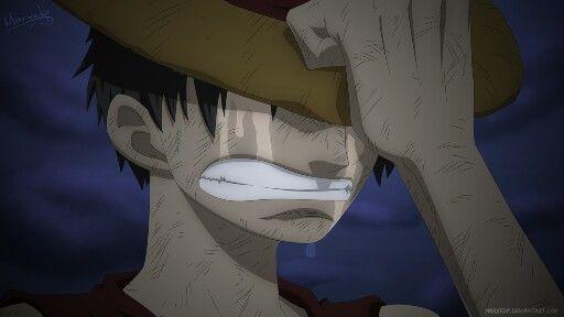 Monkey D Luffy Crying One Piece Anime E Mangas