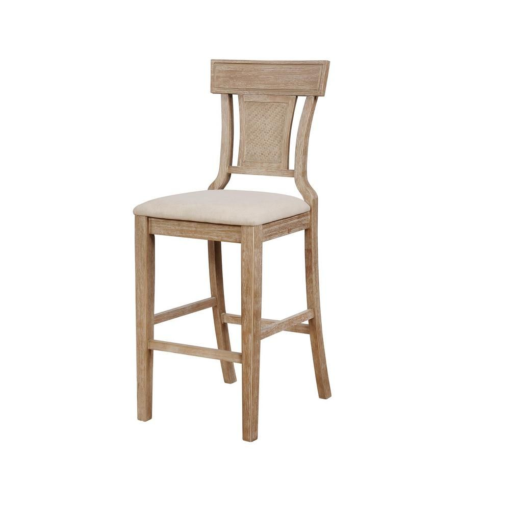 Linon Home Decor Maxwell 30 In Rustic Brown With Grey Wash Bar Stool Products In 2019 Counter Stools Bar Stools Wood Counter Stools
