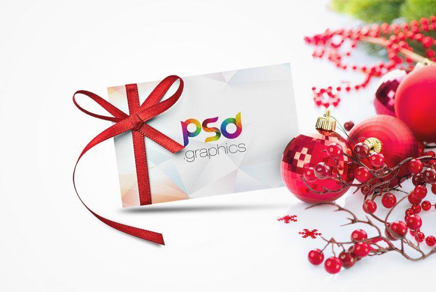 Free Christmas Gift Card Mockup Psd Psd Graphics Free Photoshop Mockup Psd Christmas Gift Card Christmas Gift Card Gift Card Design Free Psd Flyer