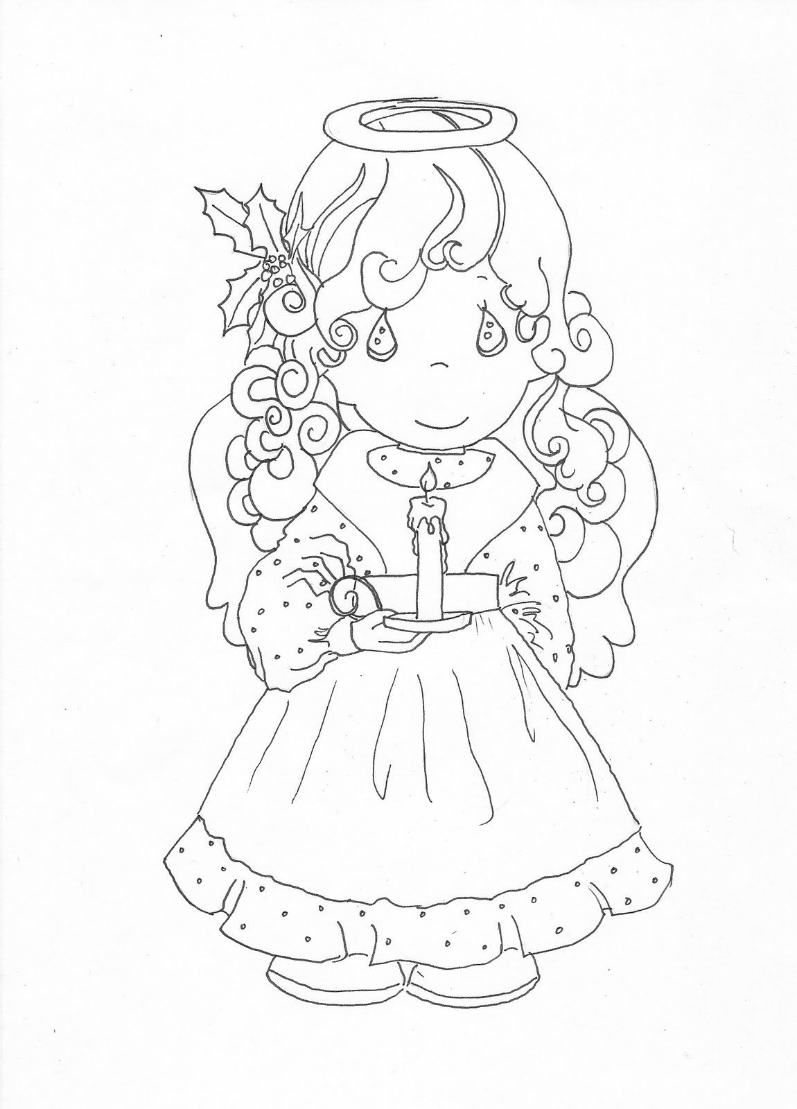 precious moments christmas angel coloring page coloring precious