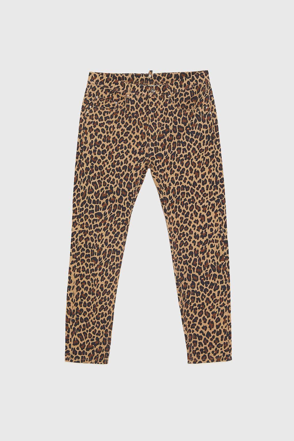 Imagen 6 De Pantalon Estampado Animal De Zara Animal Print Pants Skinny Pants Printed Pants