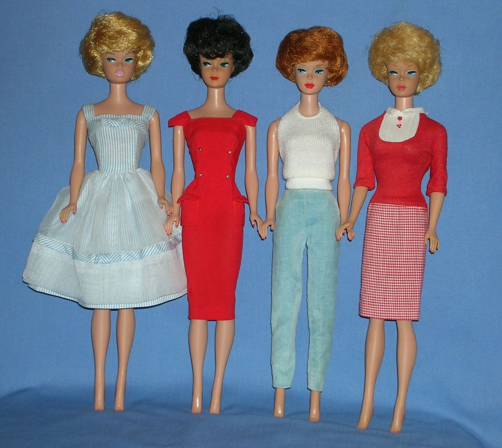 The dress blonde redhead - 1961 64 Barbie Vintage Bubblecut 2 Blonde Redhead Black