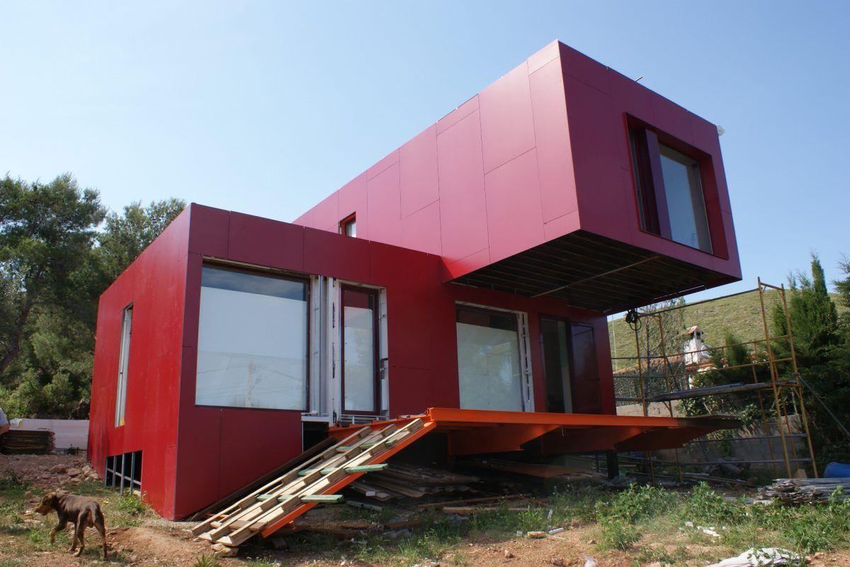 Contiene una casa vivienda hecha con contenedores casas containers pinterest - Como hacer una casa con contenedores maritimos ...