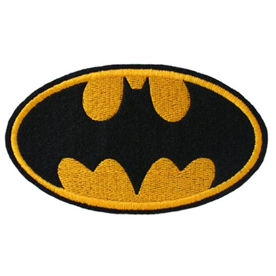 Batman Badge Logo Embroidered Iron On Sew On By Stitcherycomplete