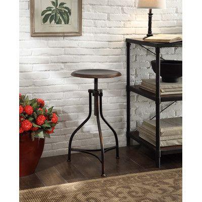 Trent Austin Design Elgin Adjustable Height Swivel Bar Stool Finish: Antique Copper