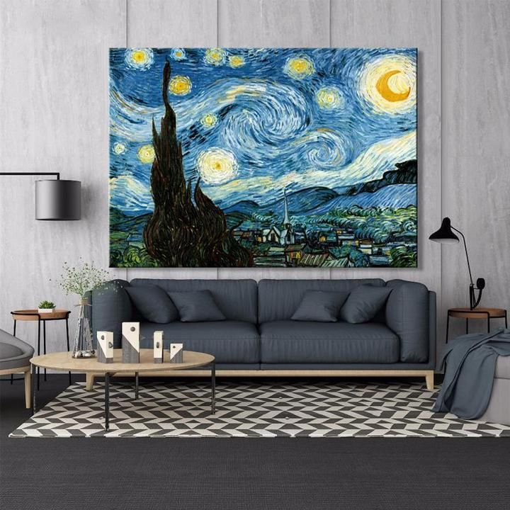 Vincent Van Gogh Starry Night Starry Night Van Gogh Wall Art Canvas Painting Starry Night Painting