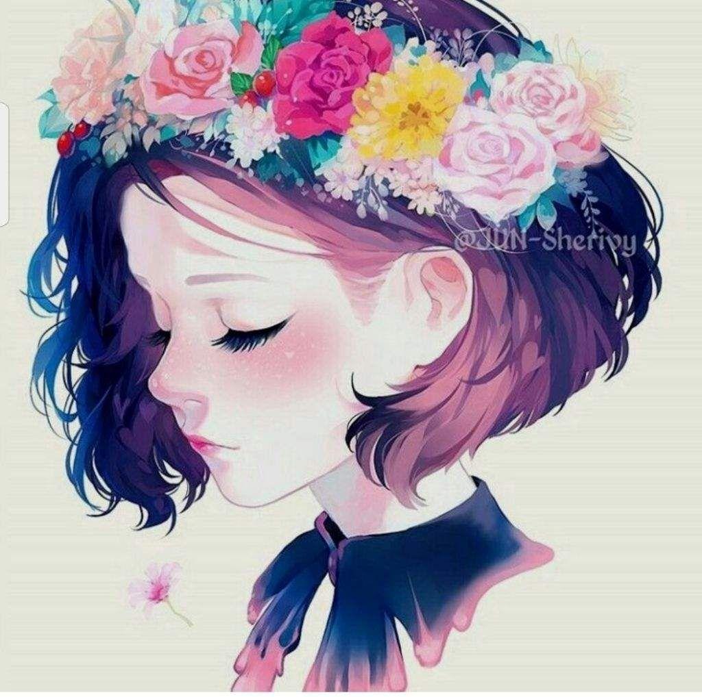 Resultado de imagen para anime girl wearing flower crown sad girls resultado de imagen para anime girl wearing flower crown izmirmasajfo