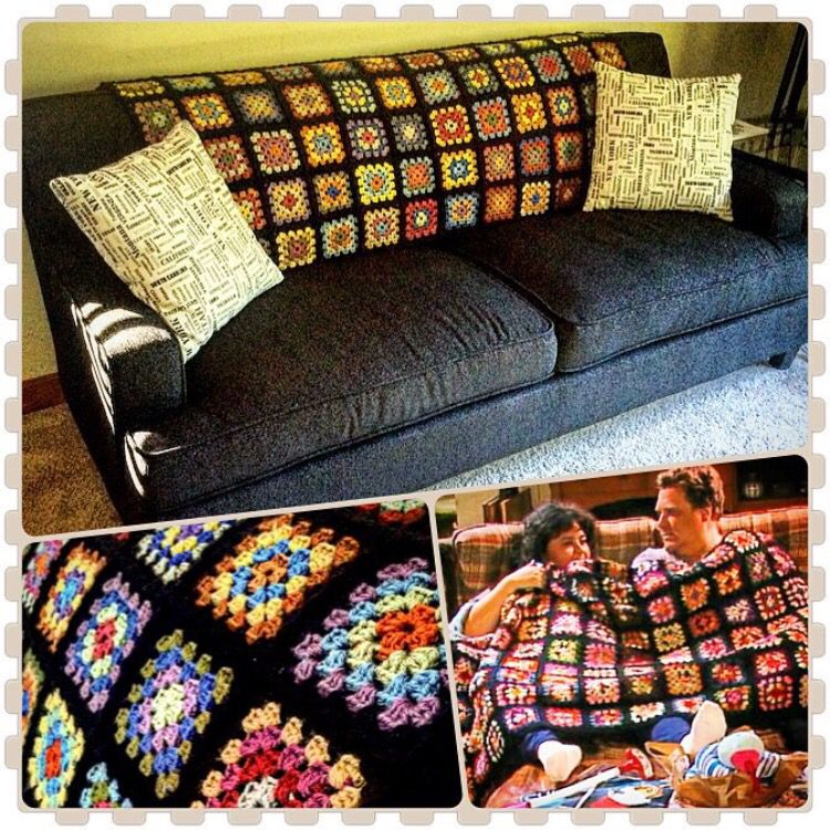 Roseanne Crochet Granny Square Blanket Crochet Love Pinterest