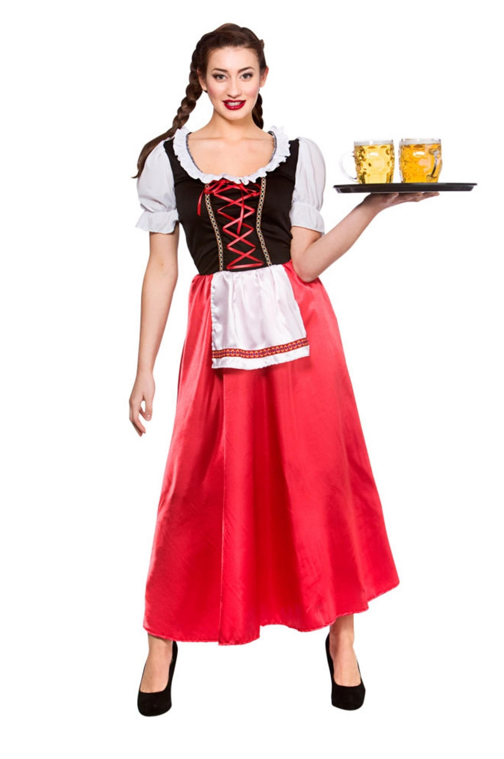 Oktoberfest Wench Ladies Fancy Dress German Bavarian Beer Girl Womens Costume